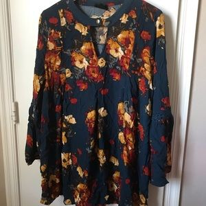 Tops - Floral tunic dress